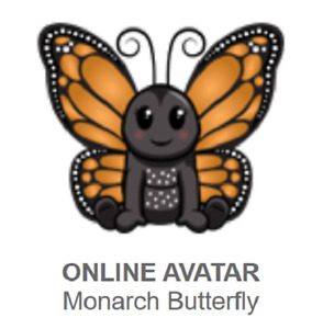 Webkinz Classic Monarch Butterfly *Code Only*