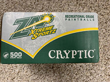 Zap Xtreme Sports Cryptic Recreational Paintballs 500 Count