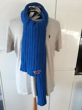 Hollister Mens Blue Solid Knit Scarf Thick Winter scarf Unisex