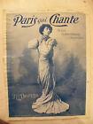 Paris qui Chante N°65 1904 M elle Drunzer Mayol Vilbert