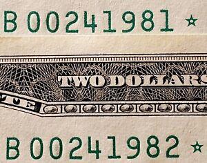 2013 FRN New York, NY 2 dollar consecutive STAR notes B00241981*, B00241982*