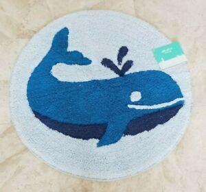Pillowfort Whales Bath Rug NWT