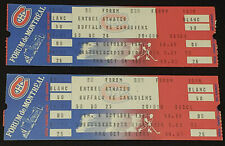 1981 - MONTREAL CANADIENS vs BUFFALO SABRES - MONTREAL FORUM UNUSED TICKET (2)