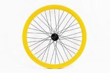 ruota anteriore 700 fixed 43mm giallo raggi neri RIDEWILL BIKE Bicicletta