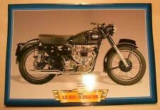 AJS MODEL 20 SPRINGTWIN 500 CLASSIC MOTORCYCLE BIKE 1950'S PICTURE PRINT 1952