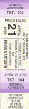 Frank Mantooth Concert Ticket 1995
