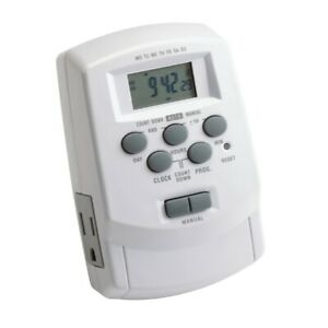 Kichler Digital Timer with Daylight Sa, White - 15556WH