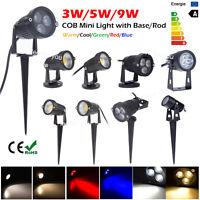 9W/5W/3W LED Lawn Garden Flood Light Yard Patio Path Spotlight Lamp Waterproof