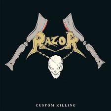 Razor - Custom Killing LP / New Silver Vinyl Re/ Sealed (2015) Thrash Metal