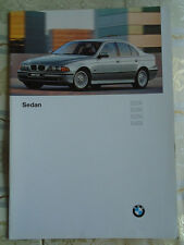 BMW 5 Series Sedan range brochure 1996 Ed 2 USA market