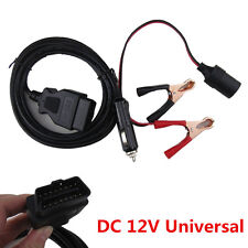 DC12V OBD2 Car ECU Memory Saver Connector with Extended Cable Battery Clamp Clip