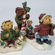 Boyds Bearly Built Miniature 2002 Kringle Candy Cane Sledding 19036-1 Elf Rare
