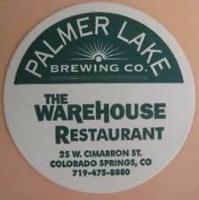 PALMER LAKE BREWING Co, 4 inch Beer COASTER Mat COLORADO SPRINGS, CO 2000 CLOSED