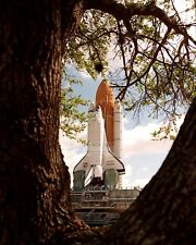 SPACE SHUTTLE ENDEAVOUR ROLLS TO LAUNCH PAD FOR STS-77 - 8X10 PHOTO (EP-411)