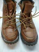 Nice vintage Chippewa brown leather steel toe boots size 6 1/2 C