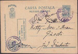 1942 ROMANIA WW2 FIELDPOST PS CARD POSTA MILITARA #80