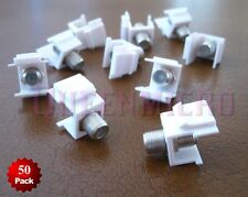 50 Pack x F-type Snap In Keystone Jack Coaxial Cable Connector Adapter RG59 RG6