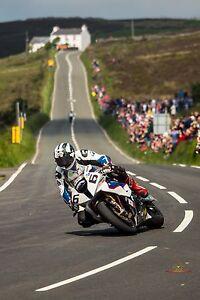 Michael Dunlop 2014 TT Superbike race winner  at the  Creg-Ny-Baa