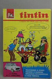 TINTIN Magazine Tintin on cover Portuguese edition 1980 12º year #46