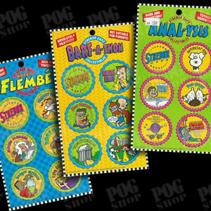 POGS 1994 USA Strebor Capz - Flembe, Barf-A-Thon, Anal-ysis - SUPER ULTRA RARE