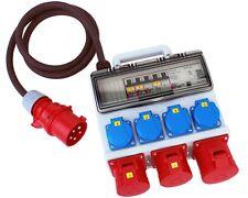 Stromverteiler FI 32A 400V Baustromverteiler Wandverteiler Starkstrom 2x 16A