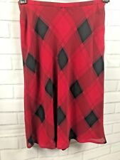 1fbd310384d0 Liz Claiborne Women's Size 4 Skirt Fully Lined Red and Black Check FAST  SHIPPING