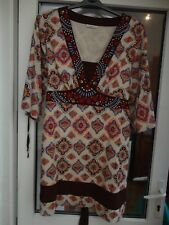George 100% Cotton Embroidered Longline Tunic Dress Size 18