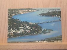 Linen post card, View of Bayou Texar, Pensacola, Florida