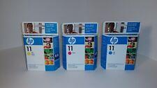 HP Ink Catridge 11  Cyan , Yellow and Magenta 3 Catridges (expired 2010)