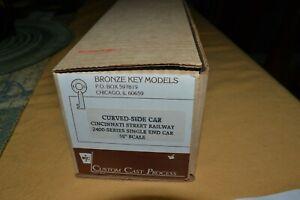 Scarce Circa 1997 BRONZE KEY MODELS Cincinnati Curved Side Trolley Street Car