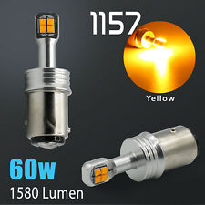 2018 1157 CREE 1600LM High Power Amber Yellow LED Front Turn Signal Light Bulbs