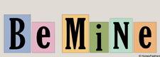 New-Be Mine~Word Blocks Stencils-Diy Upaint Valentine's Day Chunky Shelf Sitters