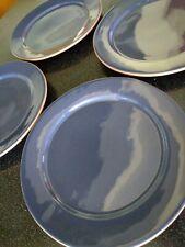 4 RARE Vintage FRANKOMA  BLUE PURPLE EGGPLANT PLATES CW 303 MID CENTURY MODERN