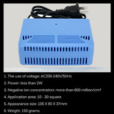 Intelligent Air Purifiers Ionizer Airborne Negative Ion Anion Generator Blue New