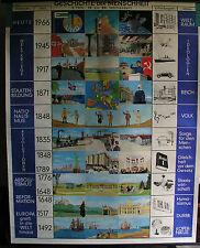 Schulwandkarte Map historia de la humanidad a partir de mañana tiempo hasta modernos 172x216cm