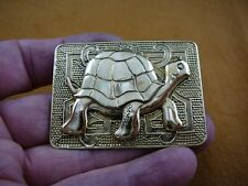 love rectangle brass pin pendant (b-tur-222) Galapagos Turtle little turtles