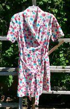 OOAK/Handmade Wrap shift belted tie dress womens size 8-10? floral cotton/Linen?