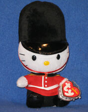 TY HELLO KITTY ENGLISH GUARD BEANIE BABY - MINT TAGS - UK EXCLUSIVE