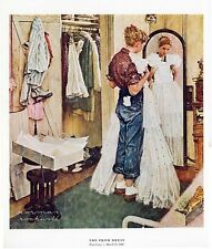 Norman Rockwell Young Girl Print The Prom Dress