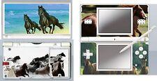 nintendo DS Lite - HORSES THEME  4 Piece Decal / Sticker Skin vinyl