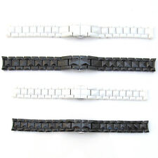 Watch Strap Fits CHRISTIAN DIOR CERAMIC Bracelet BLACK WHITE 15mm 17mm New Band