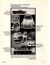 1966 TRIUMPH TR-4A / TR4A  ~  NICE ORIGINAL PRINT AD
