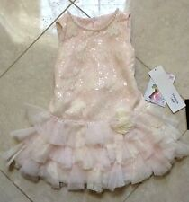 NWT Kate Mack Light Pink Lace & Pearl Dres
