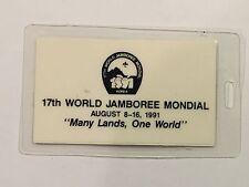 1991 World Jamboree Luggage Tag Mint CC1