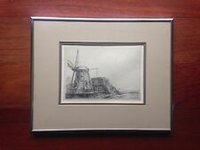 """1641 REMBRANDT """" THE WINDMILL """" ETCHING  HAND PRINTED BY THEO BEERENDONK"""
