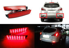 2x Red Lens LED for NISSAN Bumper Reflector Tail Brake Light Sentra Murano Juke