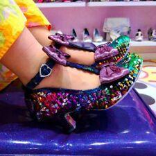 Irregular Choice Total Freedom (D) Rainbo Sequin High Heel Shoes