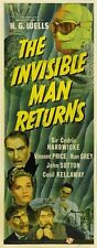THE INVISIBLE MAN RETURNS MOVIE POSTER H. G. Wells HOT