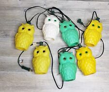 Vintage Owl String Lights Set Of 7 Patio Camping Outdoor Owl Blow Mold