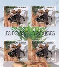 GOLDFISH (Black Moor) Freshwater Fish Stamp Sheet #6 of 7 (2012 Burundi)